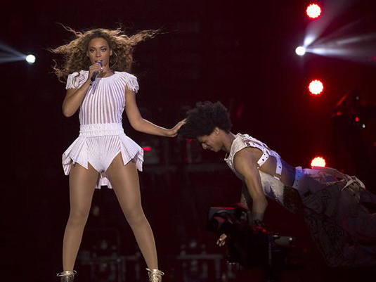Beyonce at show in Amsterdam