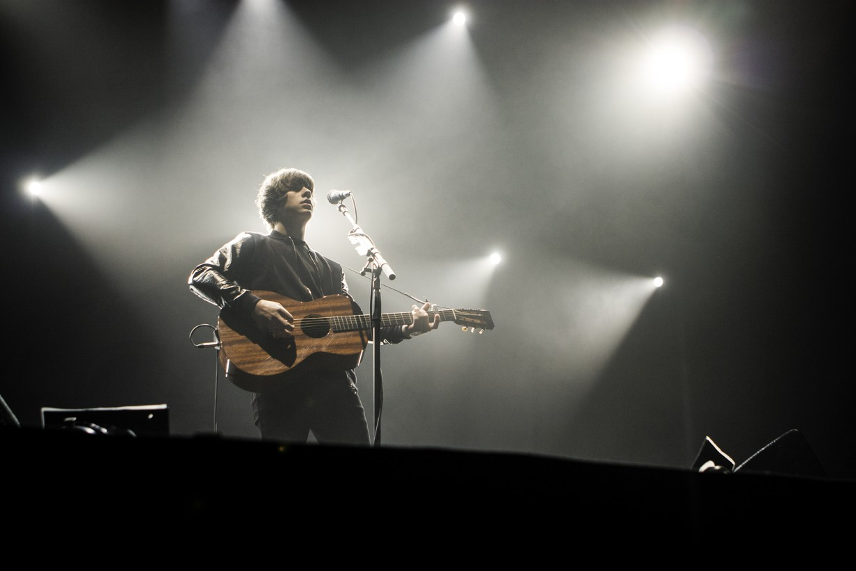 Jake Bugg live at the Alexandra Palace, 21 October 2014. Photo by Lauren Towner