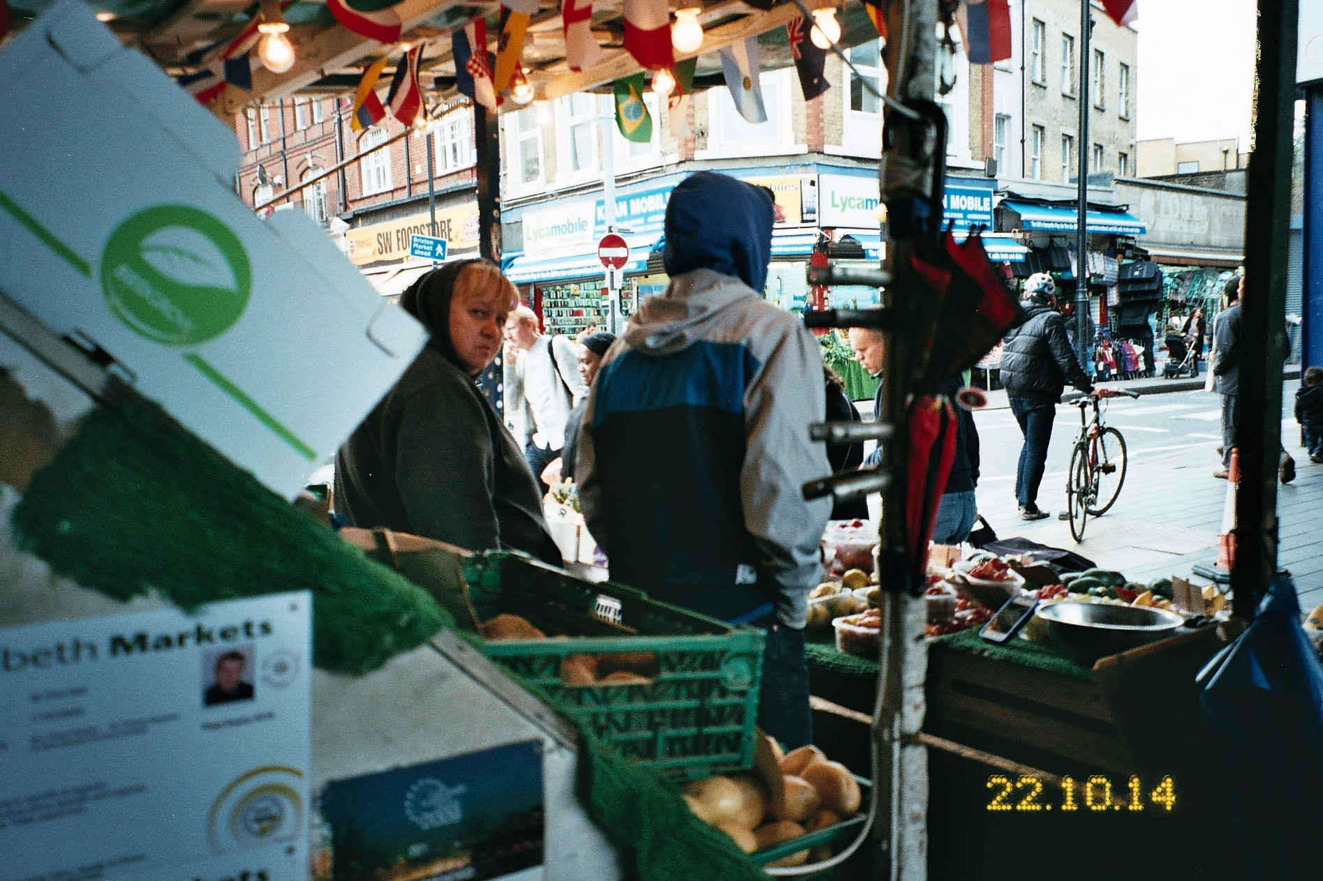 Traders on Pope's Road in Brixton.