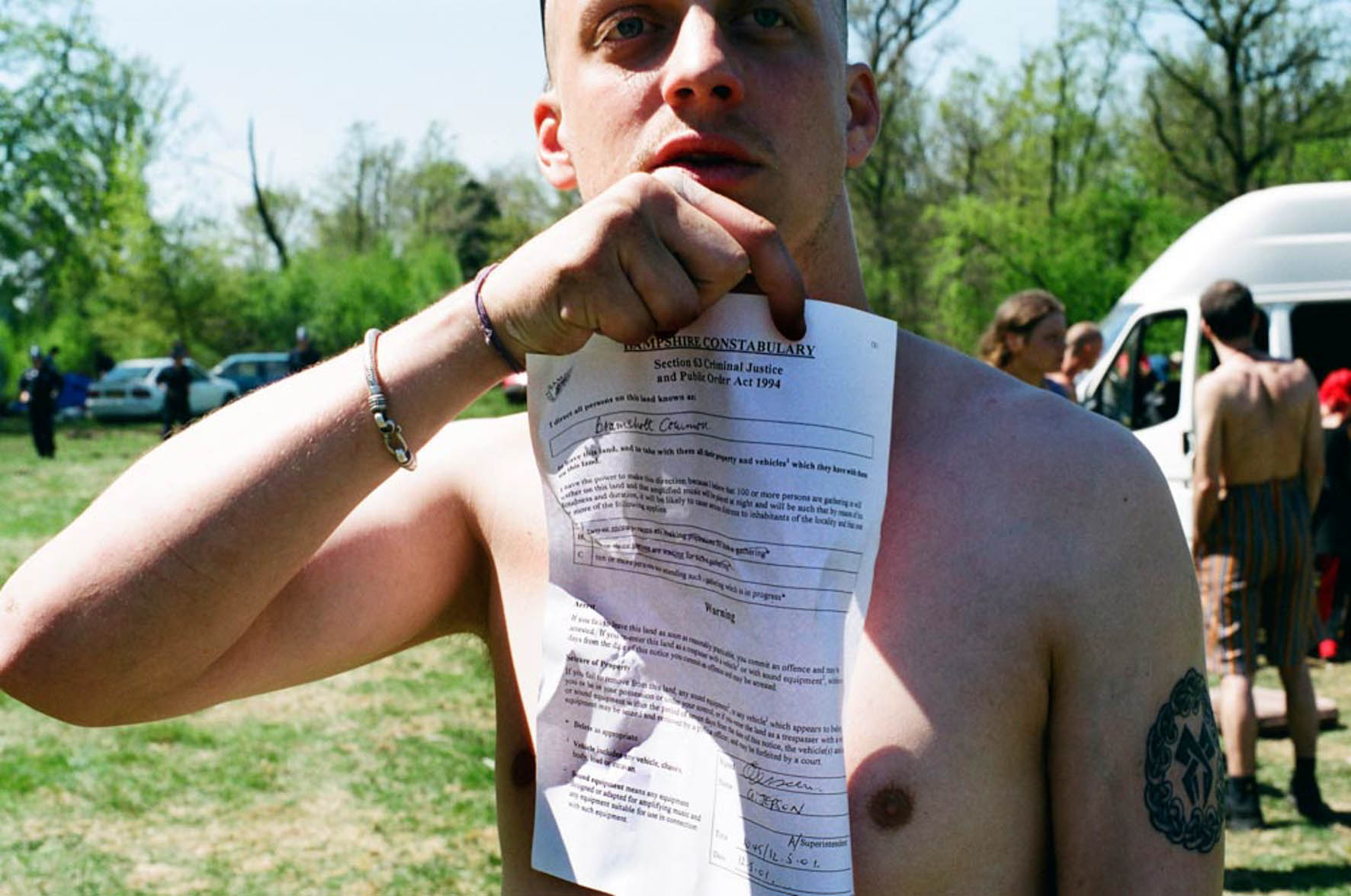 Molly Macindoe - Notice to leave -  Section 63 is served, UK Tek, Bramshott Common, Hampshire, 2001