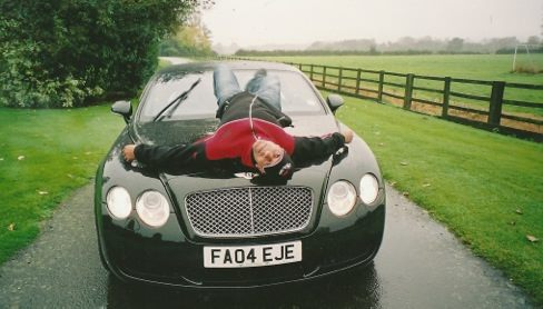 High life: Lee Ryan bought a range of fast cars including this Bentley. Courtesy of Lee Ryan.