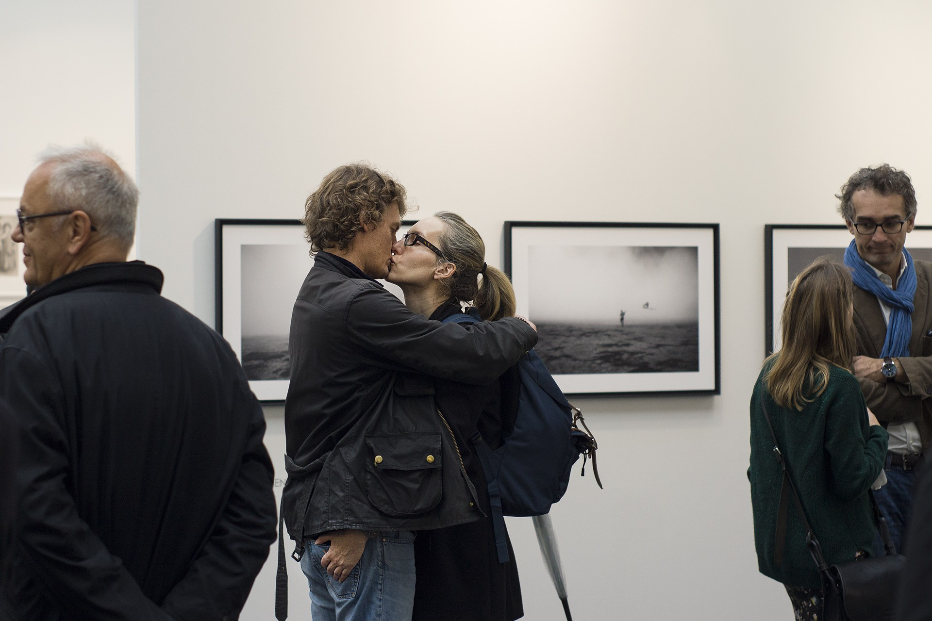 Photographs taken at Paris Photo November 2014 Photograph of a couple kissing Photographed by Pieteke Marsden