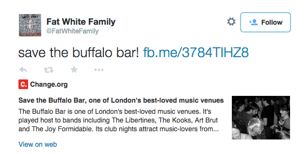 Fat White Family lend support to save London's Buffalo Bar in Highbury and Islington