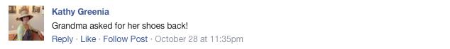 Céline shoe Facebook opinion 4