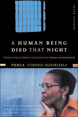 Cover of A human being died that night. [Portobello Books]