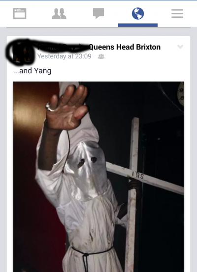 Staff member makes Nazi salute