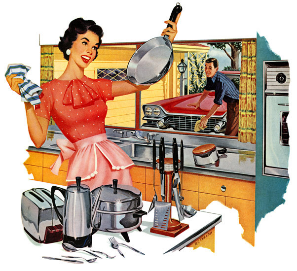 An ad for stainless steel pans from 1960s (© 1999-2013 PLAN59.COM)