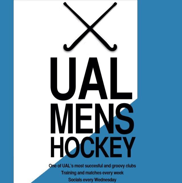 ual mens hockey poster, Twitter, Facebook