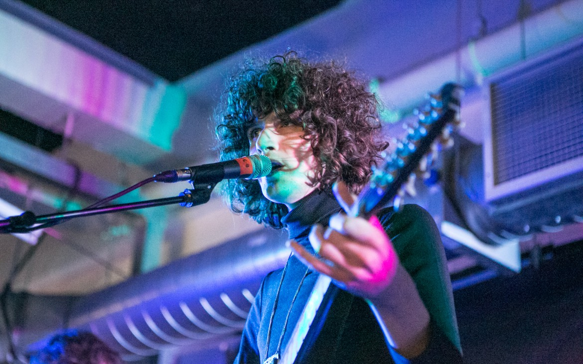 2nd December 2014 - Temples frontman James Bagshaw performing at the Rough Trade East record shop in East London for a intimate concert for just 100 people.