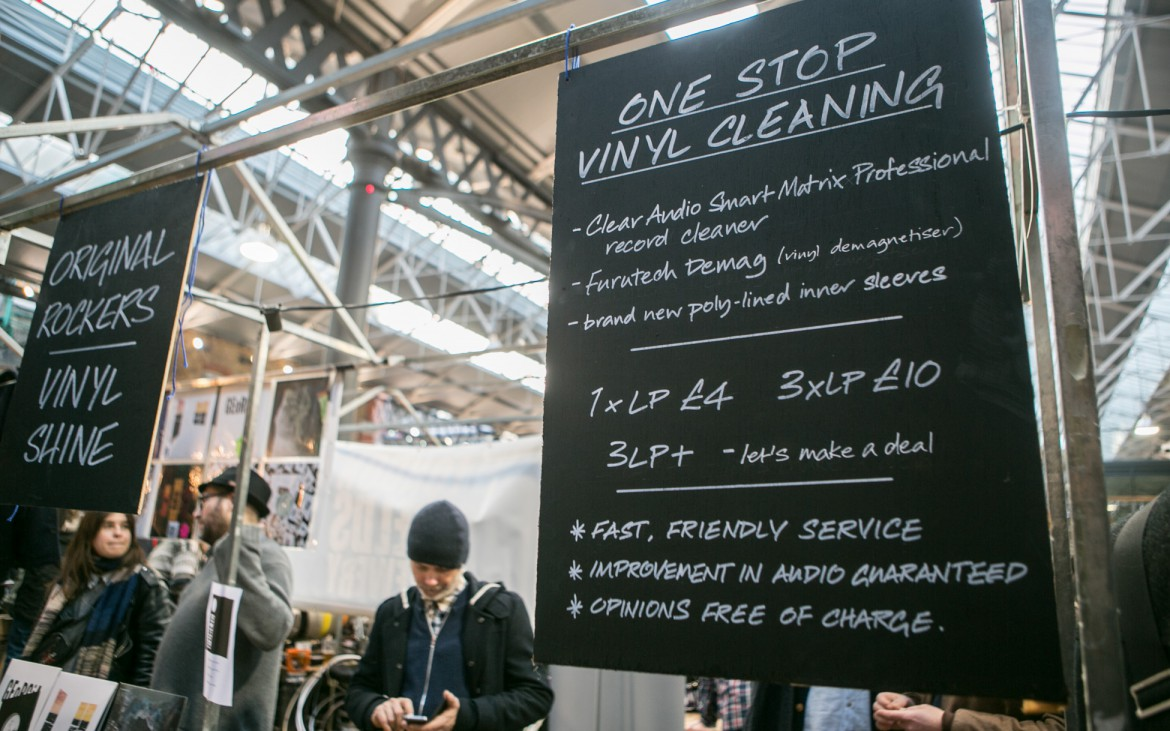 Vinyl collectors have no excuses for dirty records at the Independent Labell Market in Spitalfields, London. © Lauren Towner