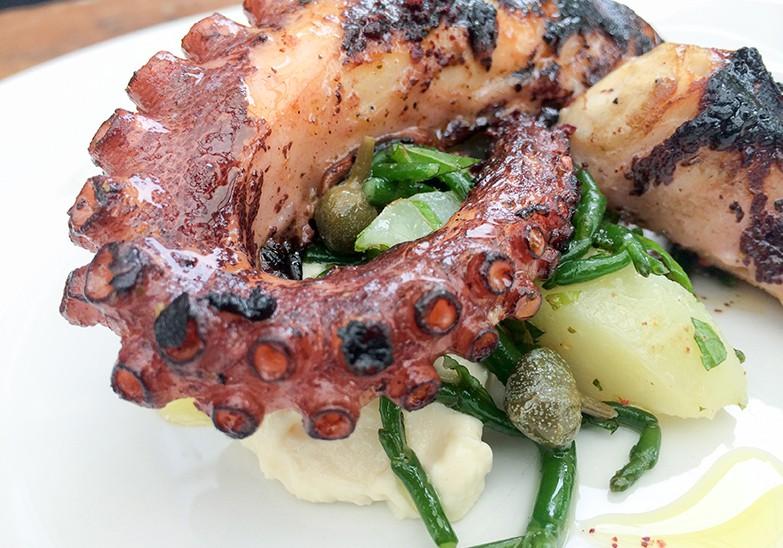Peckham Bazaar, octopus dish [Lizzie Mabbott]