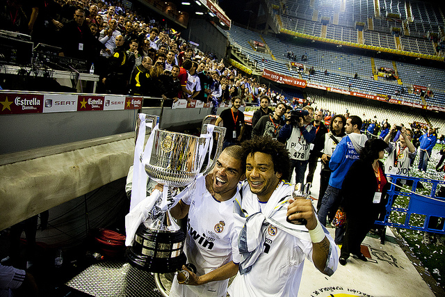 Real Madrid's Pepe & Marcelo