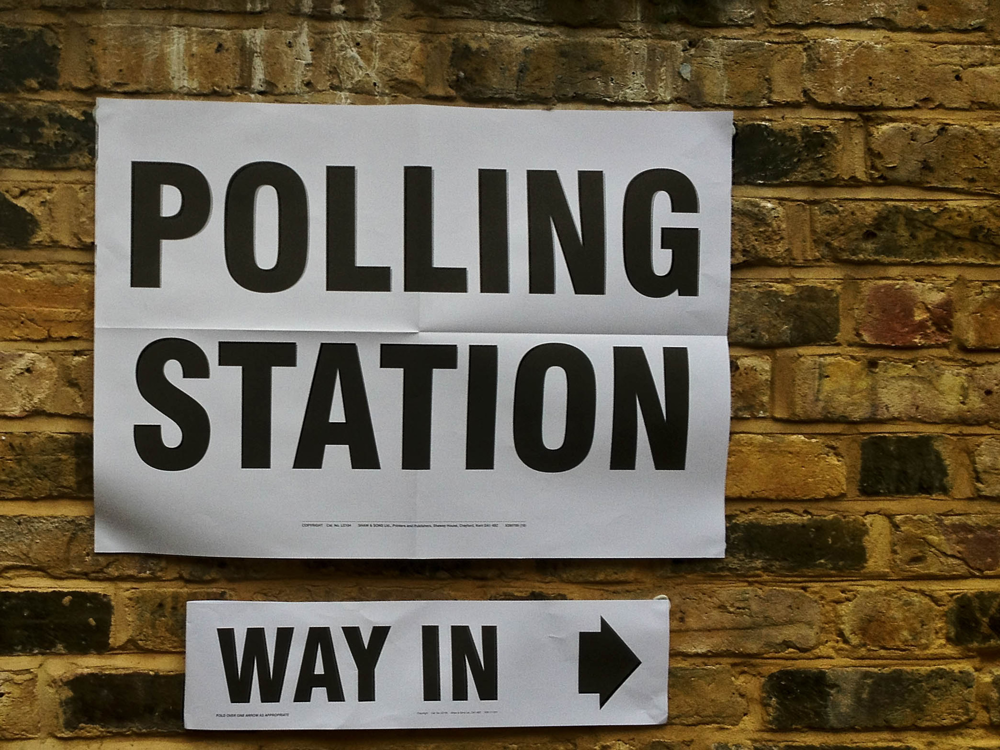 Polling station notice [Flickr: SecretLondon123]