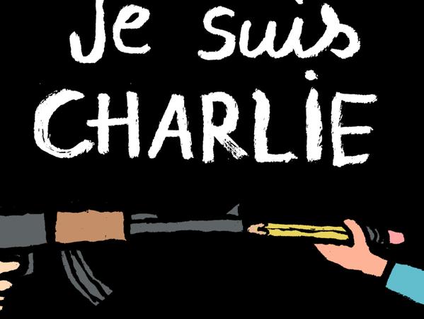 Je suis Charlie Hebdo cartoon