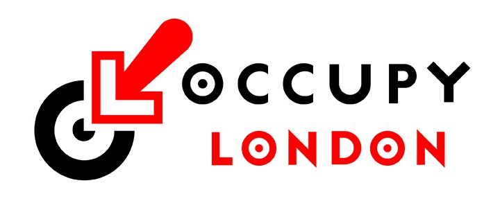 Occupy London movement logo [Jonathan Barnbrook]