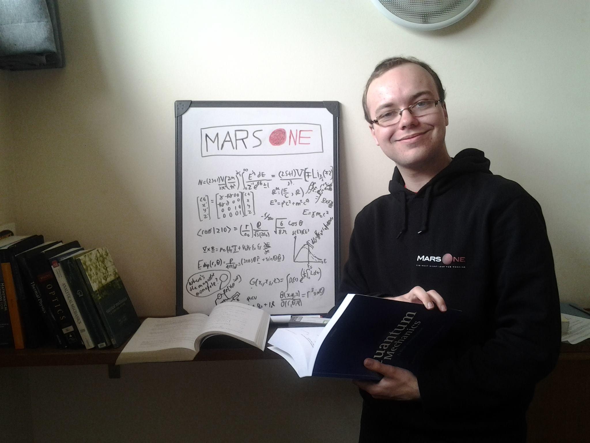 Ryan MacDonald, Mars One Mission Finalist.