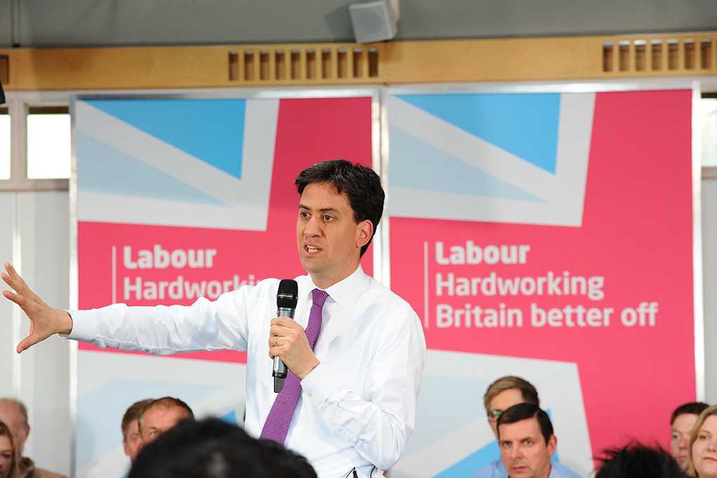 Labour leader Ed Miliband, presenting a conference at Nottingham University [Flickr: University of Nottingham]