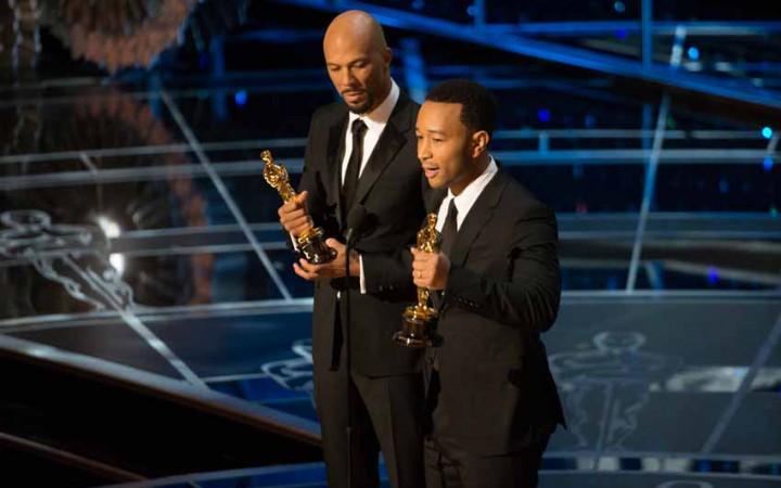 Oscars2015 Common and John Legend Oscars speech [Flickr: Disney ABC group]