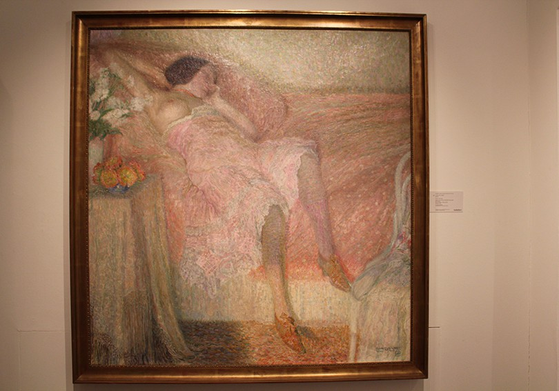 Painting of a sleeping woman