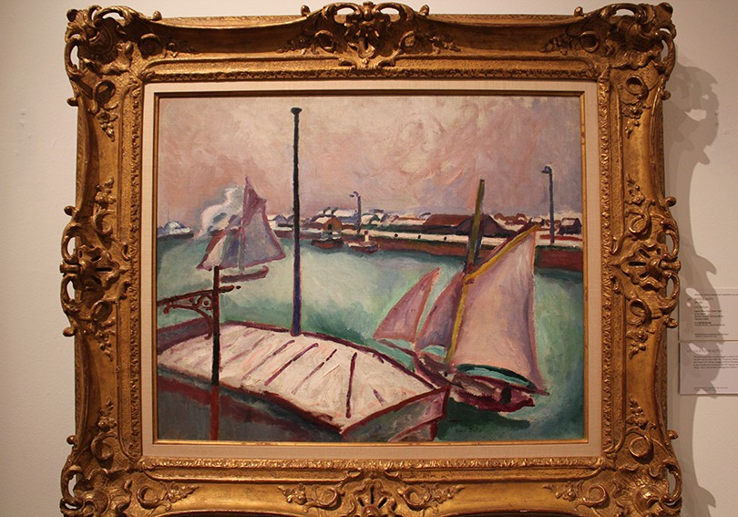 Painting of a harbour