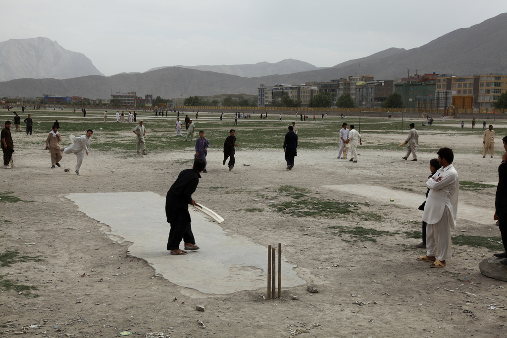 Playing cricket in Afghanistan [Flickr: Jeremy Weate]