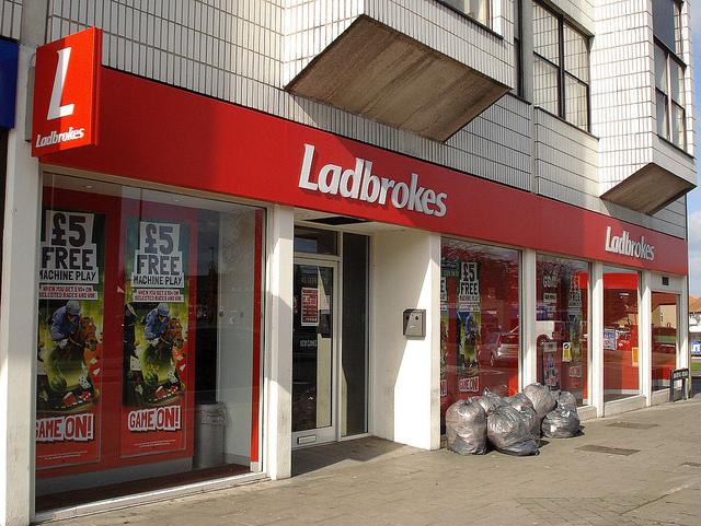 Ladbrokes shop front [Flickr: Kake]