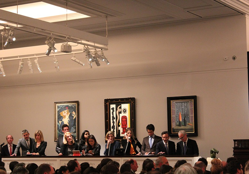 The auction room at Sotheby's