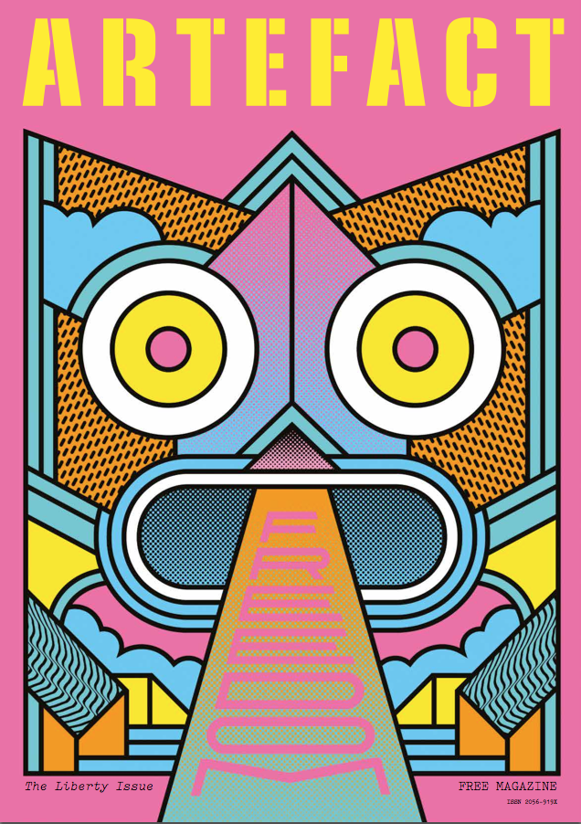 Artefact's Liberty Issue front cover [Illustration by Supermundane]