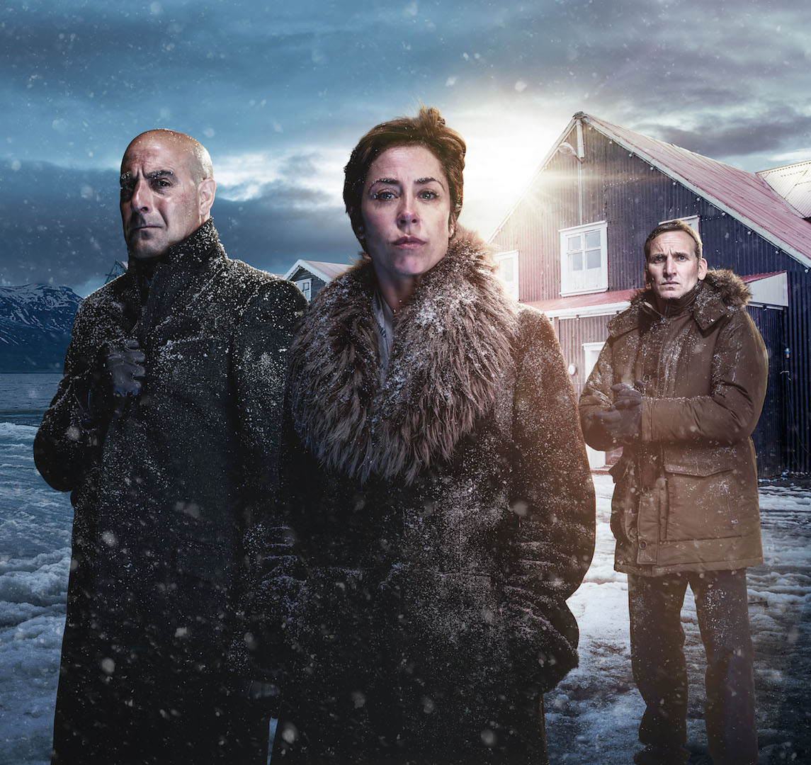 Stanley Tucci as DCI Eugene Morton, Sophie Grabol as Hildur Odegard and Christopher Eccleston as Professor Charlie Stoddart