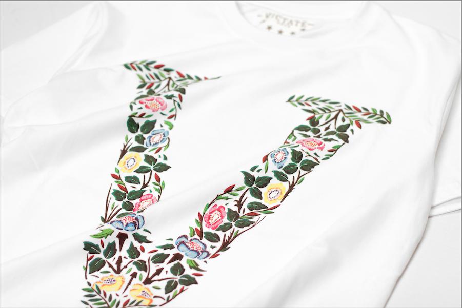 Embroidery on an Edward Li T-shirt