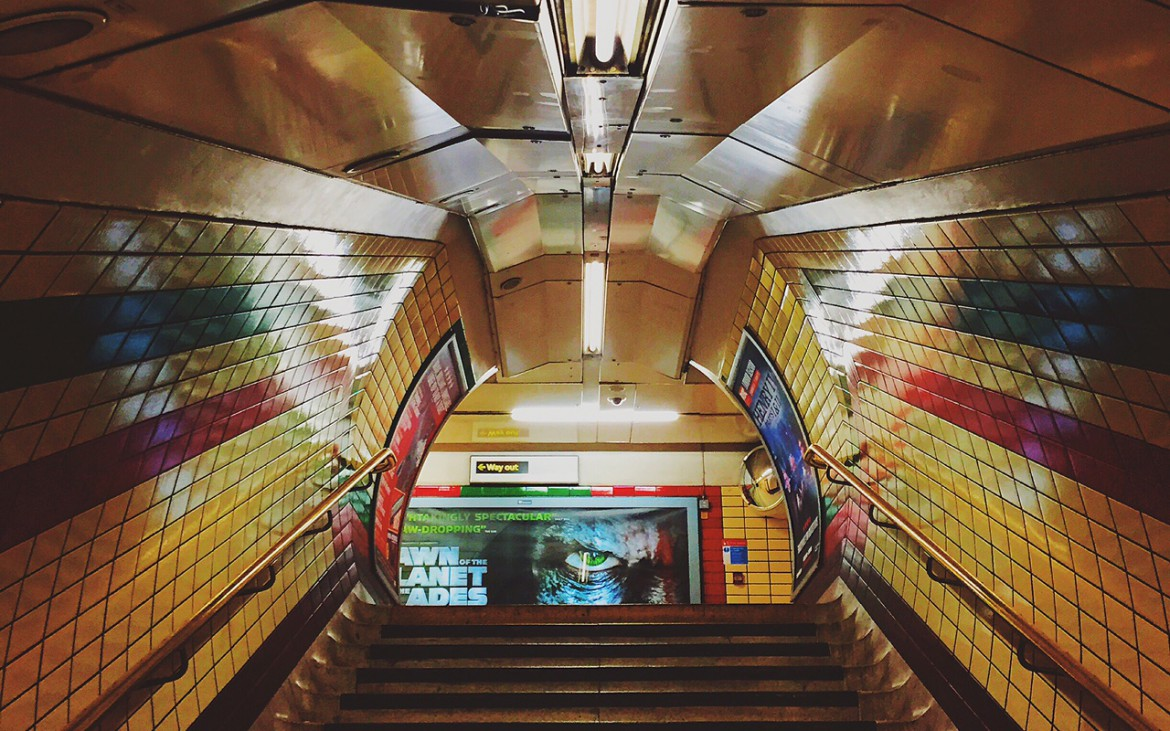 Empty stairs at a London underground station [The Boy Geniuz Photography]