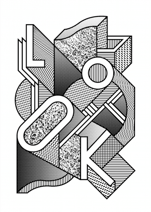 Illustration of the word Look