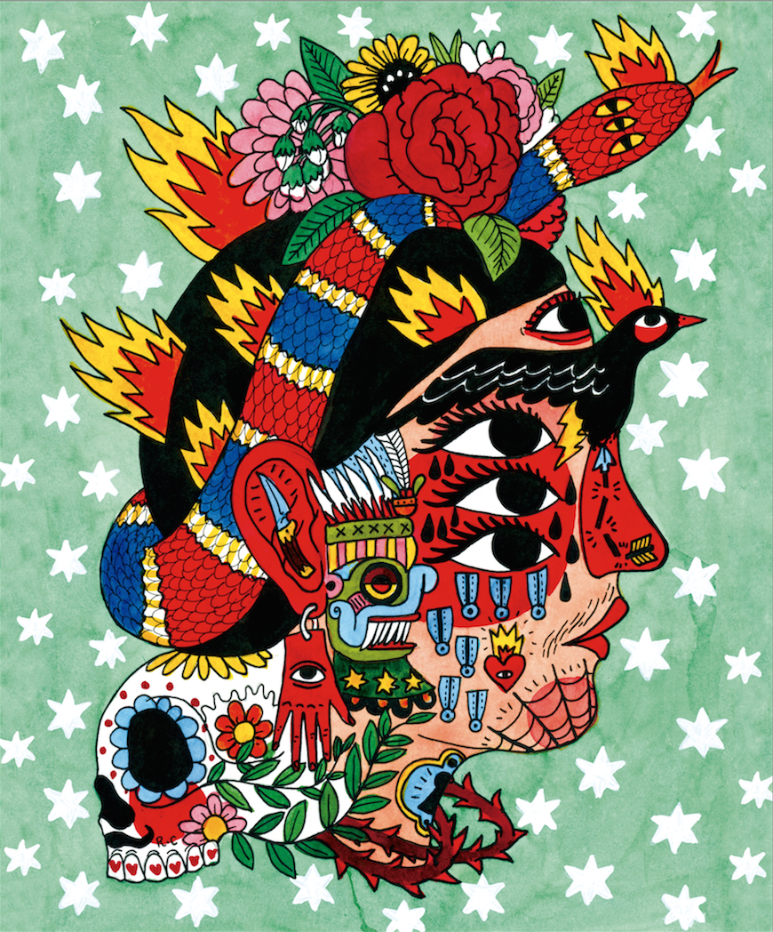 Ricardo Cavolo's illustration for Artefact