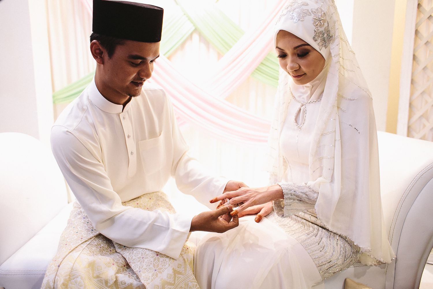 Muslim couple getting engaged. [Azian DuPree]