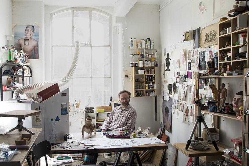 Portrait of Wilfrid Wood at his studio in Hackney Wick [©Mary Clarke]