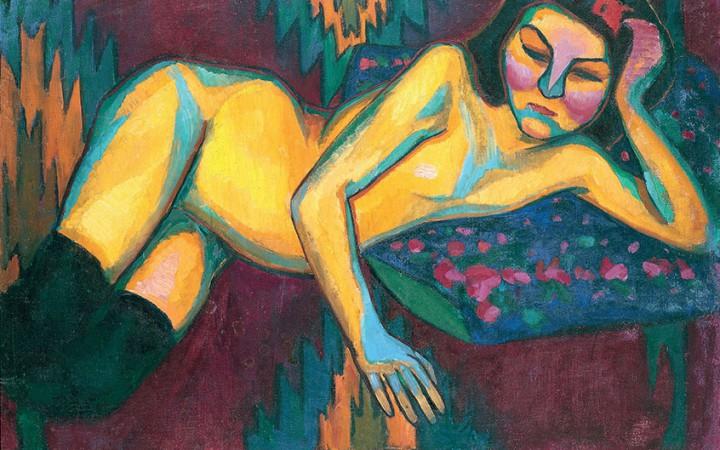 Sonia Delaunay Yellow Nude 1908 Musée des Beaux-Arts de Nantes, Nantes © Pracusa 2014083
