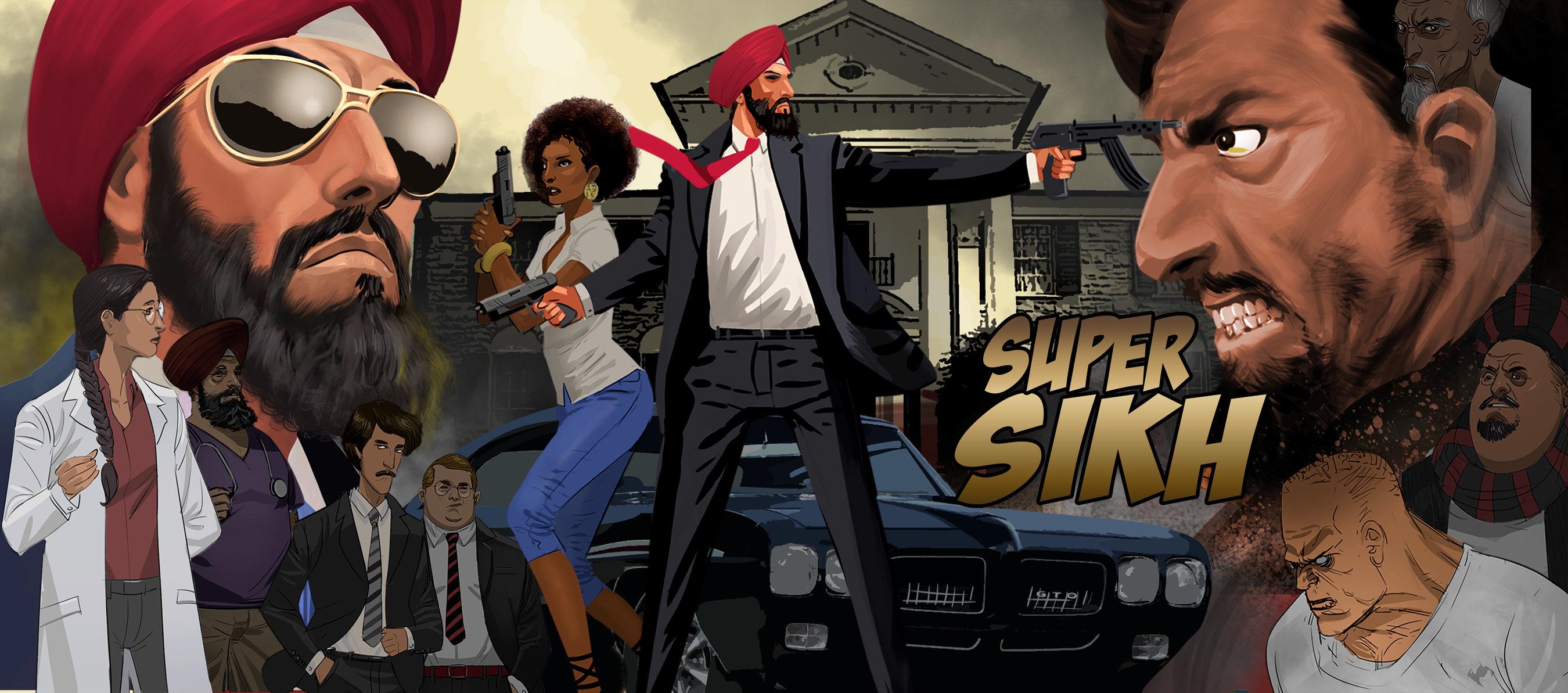 Super Sikh cartoon drawing [Eileen Alden]