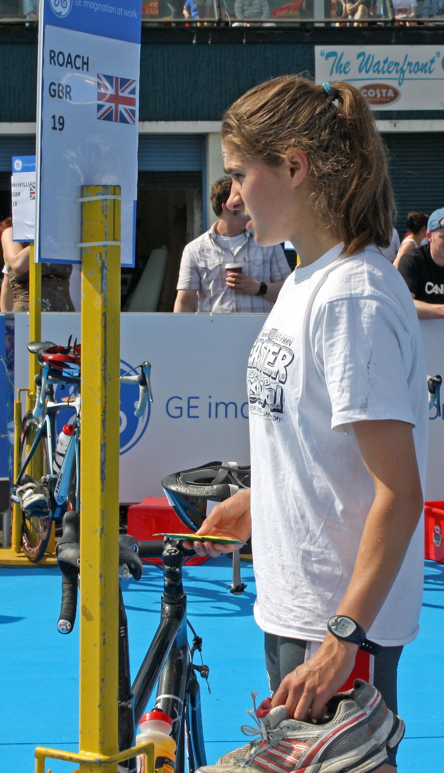 Charlotte making her Triathlon return at Strathcyde