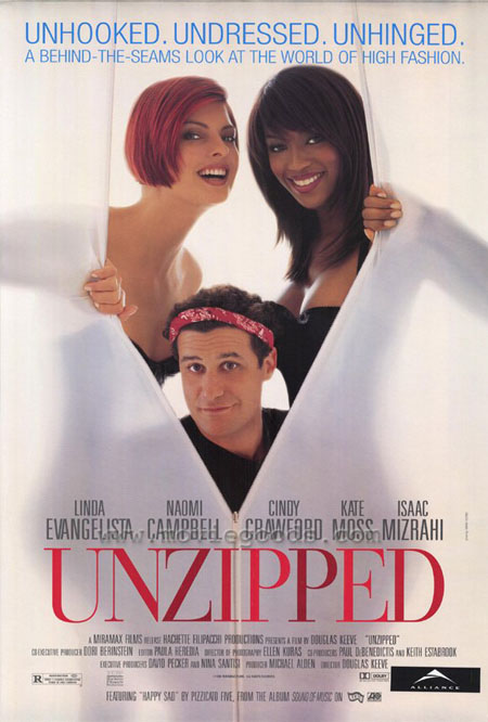 unzipped movie poster