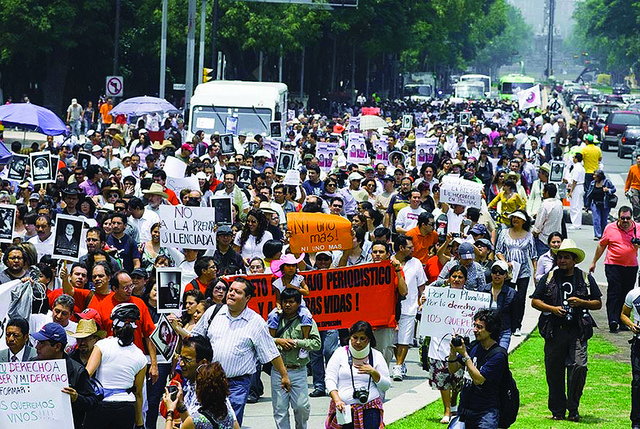 Anti-Drug Protests in Mexico [Credit: Knight Foundation via Flickr]