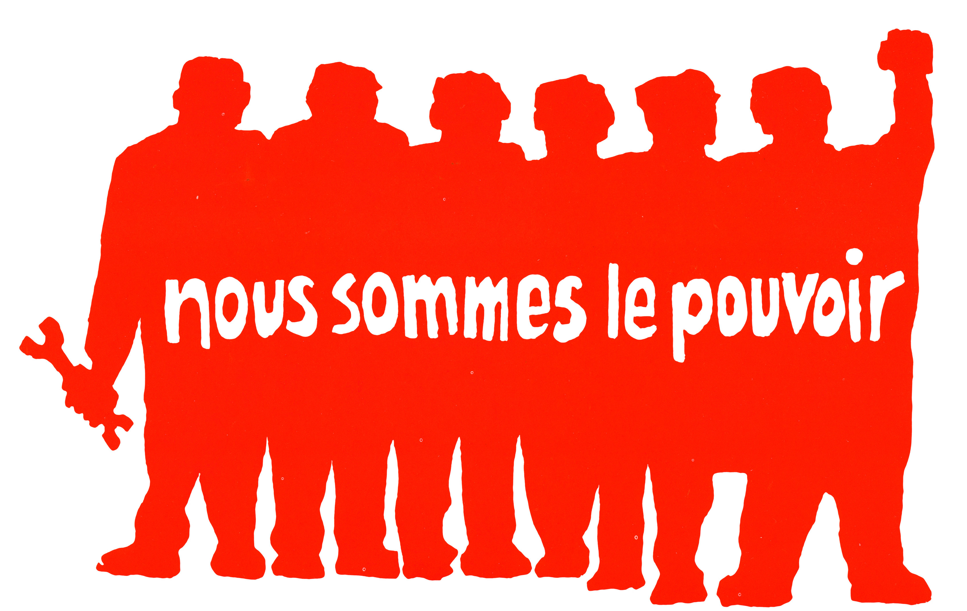 'We are the power' [image provided by Atelier Populaire]