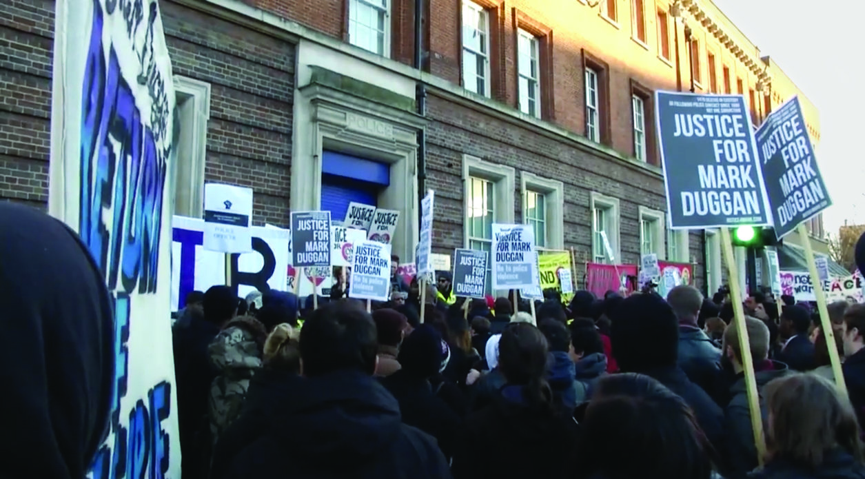 Marchers at 'Justice for Mark Duggan' rally