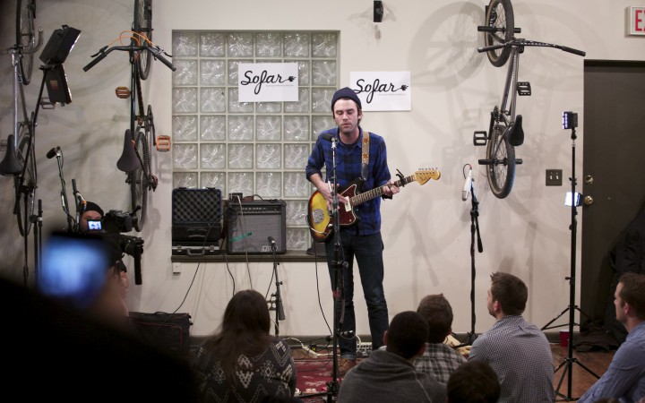 Sofar Sounds in a Chicago Bike Shop