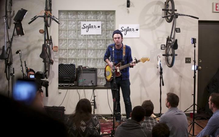 Sofar Sounds in a Chicago Bike Shop