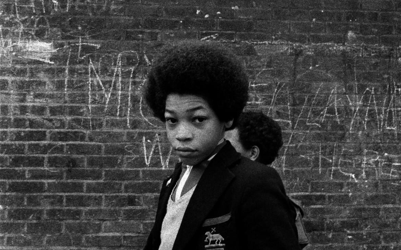 Tulse Hill Comprehensive School, Brixton, London, 1976. Copyright Syd Shelton