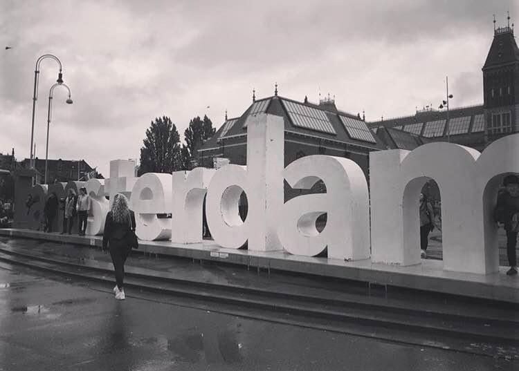 Amsterdam sculpture sign