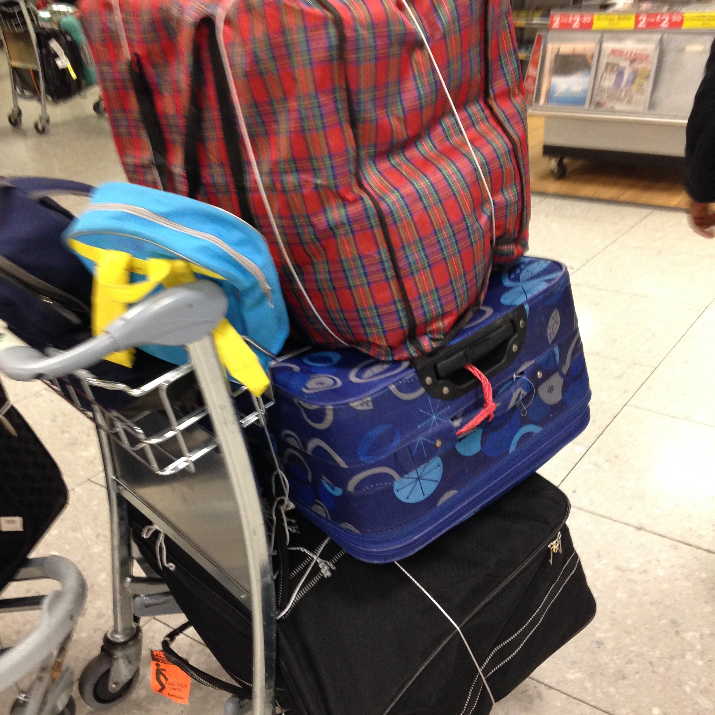 Airport Trolley full of bags