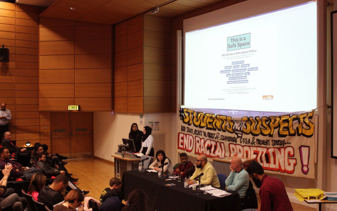 Students not Suspects event at King's College London