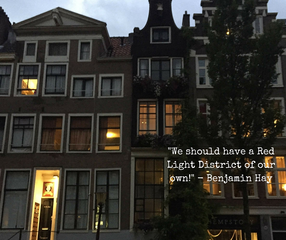 Houses in Amsterdam at dusk
