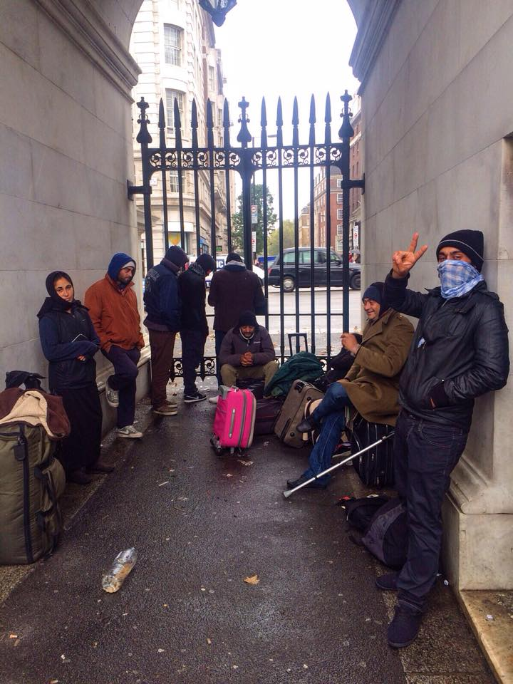 Roma Gypsies found shelter in Marble Arch